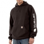 K288 Midweight Hooded Logo-Sleeve Sweatshirt