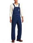 R07 Washed-Denim Bib Overall / Unlined